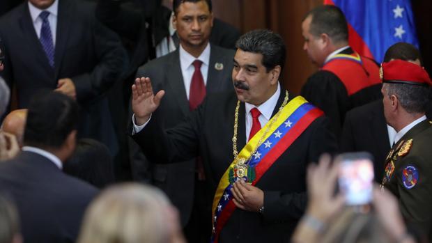 Maduro se presentó a la sede del Tribunal Supremo de Justicia (TSJ) para recibir el respaldo de los magistrados
