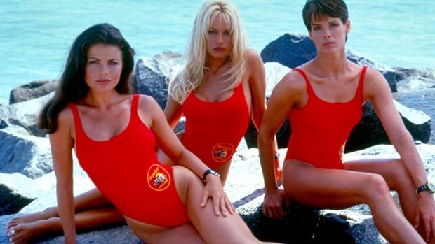 Tres actrices de «Los vigilantes de la playa»