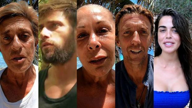 Chelo, Albert, Isabel, Colate y Violeta en «Supervivientes»