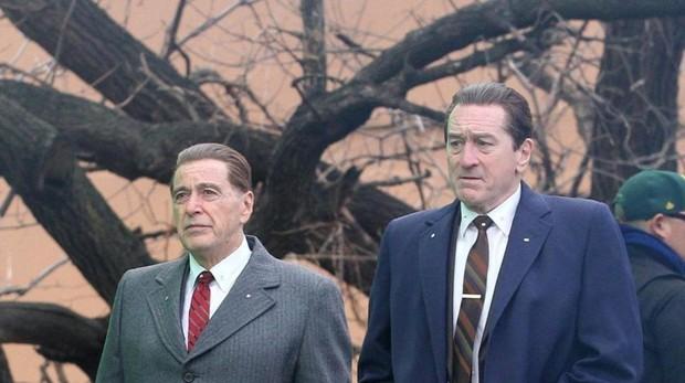 Al Pacino y De Niro en El irlandés