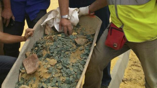 El tesoro lo encontraron mientras realizaban una obra en el Zaudín