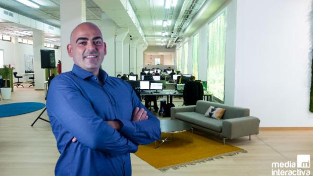 Samuel Brocal, CEO de Media Interactiva, que opera desde el municipio aljarafeño de Tomares