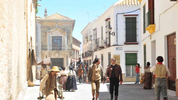 El casco histórico de Carmona permite la recreación de escenarios de siglos pasados