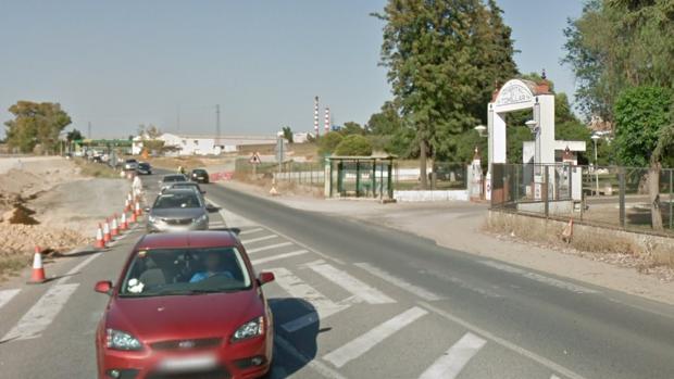 carretera A-392a la altura del Hospital de El Tomillar