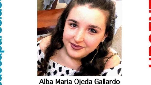 Alba María Ojeda Gallardo ya ha sido encontrada