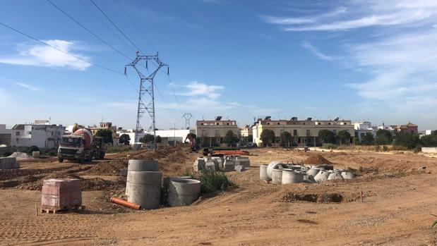 Imagen del inicio de las obras de la Huerta San Andrés, ubicación de una nueva zona comercial y residencial