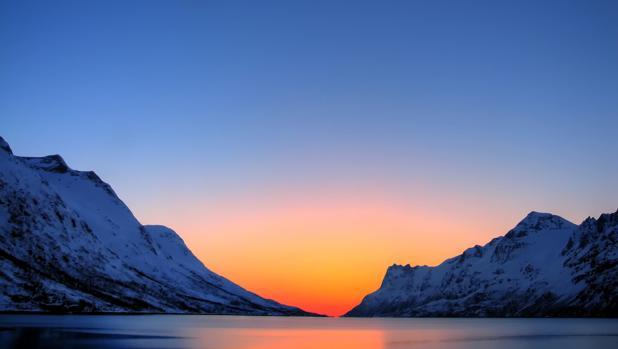 Atardecer en el Ártico
