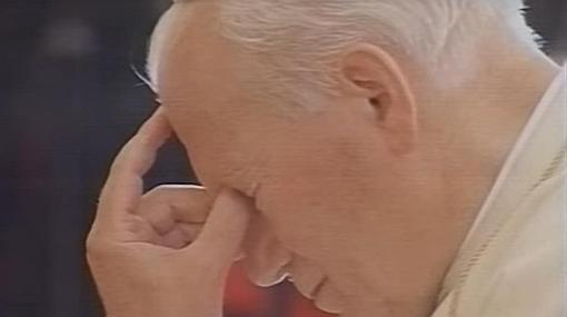 Juan Pablo II oró a los pies de María Santísima del Rocío