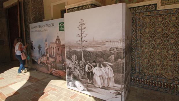 Zona del Claustro de los Muertos donde están los azulejos robados