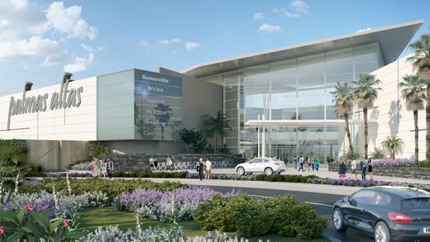 Recreación virtual del centro comercial de Palmas Altas