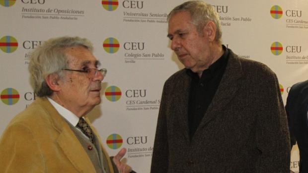 Fernando Mendoza, Premio Nacional de Restauración 2008, junto a Rafael Manzano