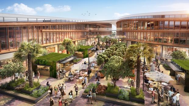 Imagen del centro comercial Torre Sevilla