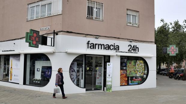 Farmacia de la calle Bogotá de Sevilla
