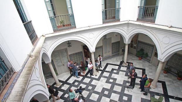 Patio de la Casa Fabiola, que alberga desde este jueves el Museo Bellver