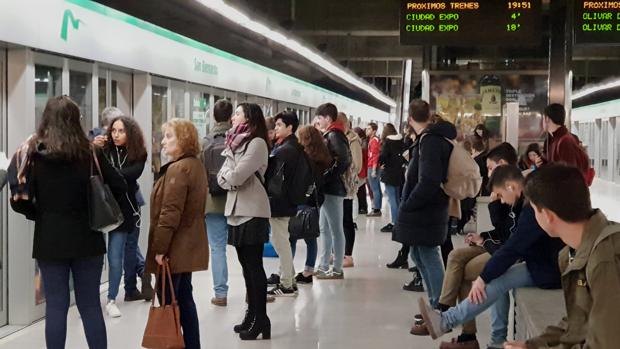 Este jueves se producirán paros parciales del metro de Sevilla en horario de mañana y tarde