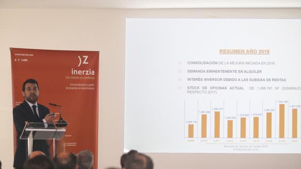 Pedro Zubiría, durante la presentación del informe