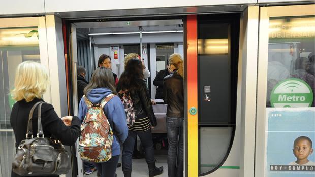 El metro de Sevilla registró el pasado año casi casi 17 millones de viajeros