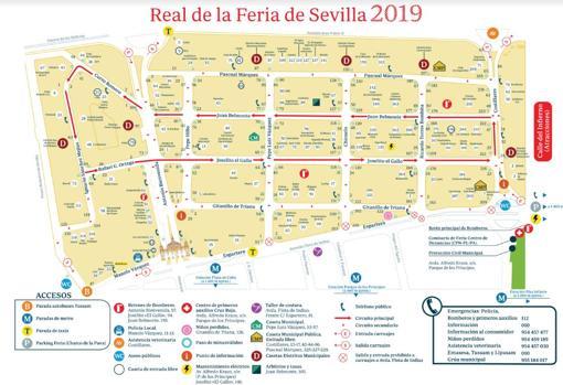 Mapa Feria Sevilla 2019.Plano De La Feria De Abril De Sevilla 2019 Todas Las Calles