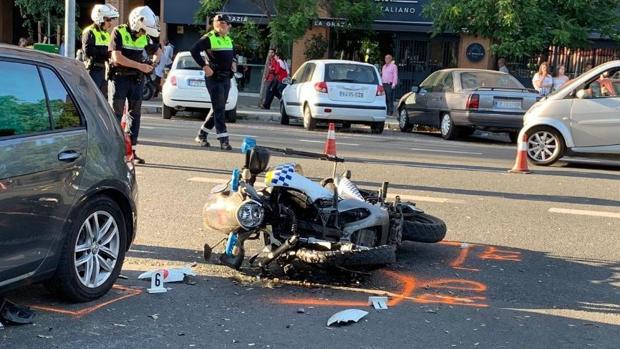 El accidente se ha producido a la altura del número 26 de la avenida Eduardo Dato
