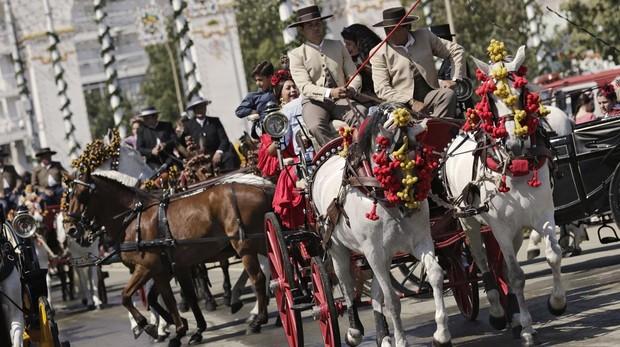 El paseo de caballos fue ayer muy lucido tras la Exhibición de Enganches