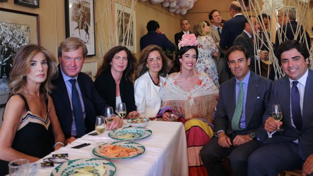 Verónica Pacheco, Fermín Bohórquez, Clara Ruiz de Alda, Ángela Pacheco, África Serra, Miguel Báez «Litri» y Bosco Guerrero