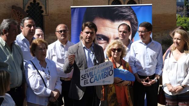 Beltrán Pérez durante el acto celebrado este sábado en el parque de la Buhaira de Sevilla