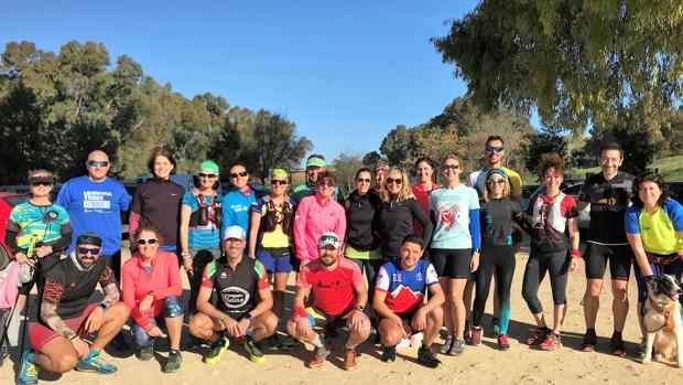 Grupo de entrenamiento formado por personas con y sin diabetes