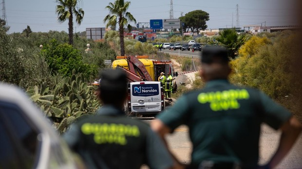 Imagen captada momentos después del accidente mortal de José Antonio Reyes