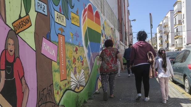 Un mural en Los Pajaritos resume aspiraciones vecinales