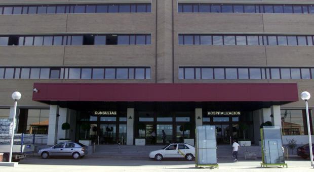Entrada principal del hospital de Bormujos