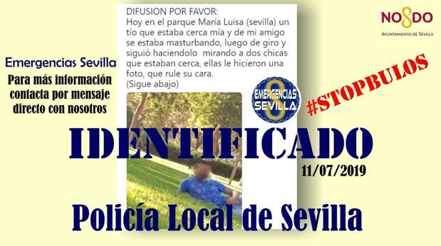 Mensaje difundido por la Policía Local de Sevilla