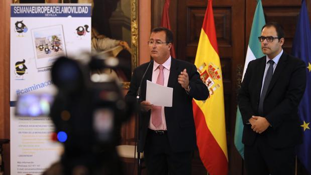 Juan Carlos Cabrera presentó ayer la Semana de la Movilidad en Sevilla