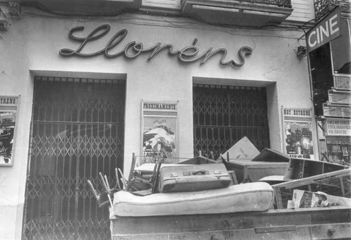 La entrada por la calle Rioja, cerrada en 1982
