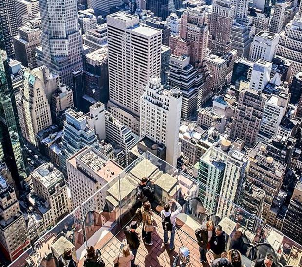 Mirador del Rockefeller Center, en Nueva York