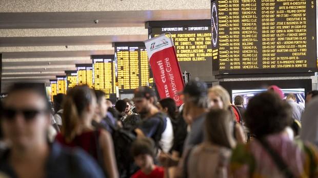 Pasajeros en la estación de Roma Termini